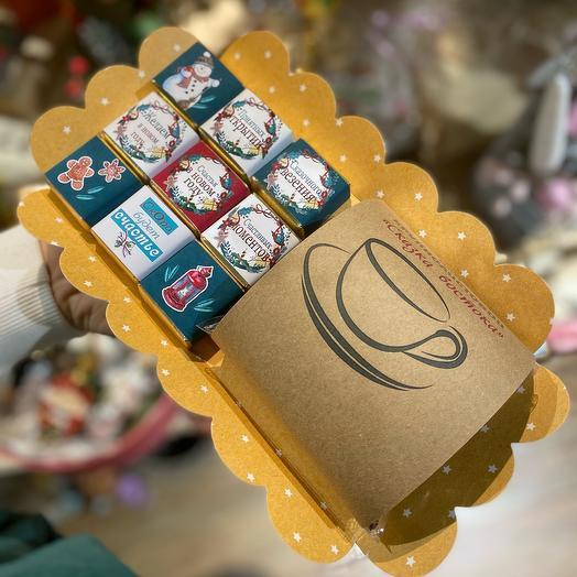 Шокобокс конфетки и чай