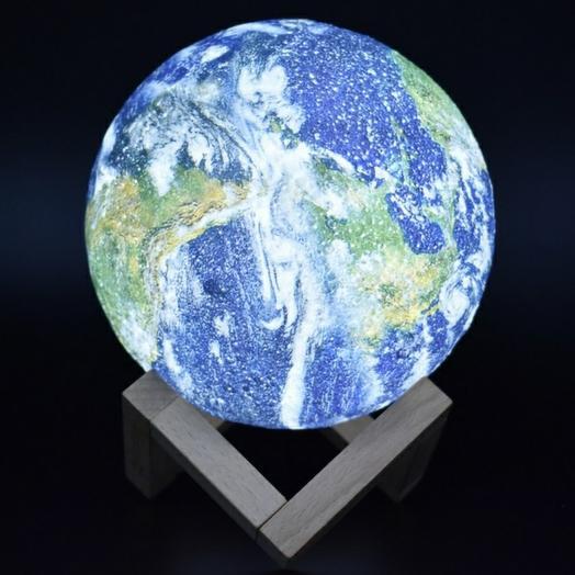 Светильник ночник Планета 15 см с пультом