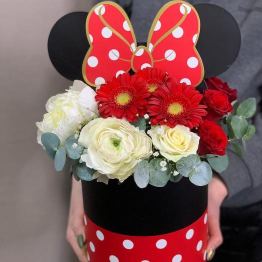 Коробочка с цветами «Минни Маус»