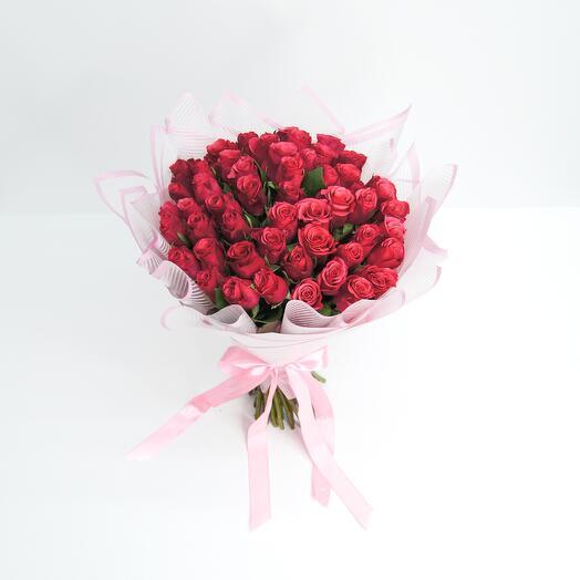 Букет из 51 роз (40см)