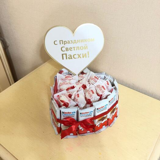 Шокобокс из киндер шоколада со злаками