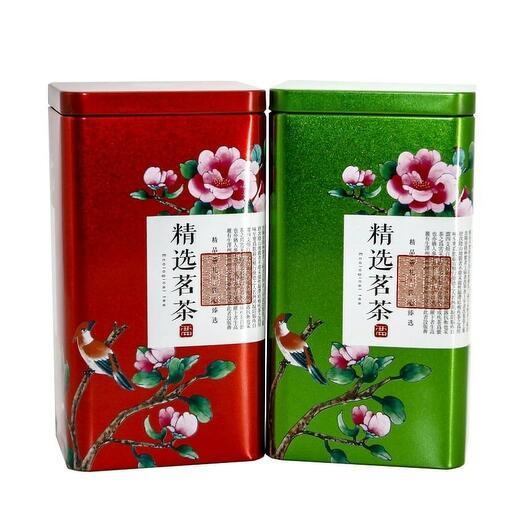 """Банка для чая """"Цветущая сакура"""", жесть 1 шт. Красный"""
