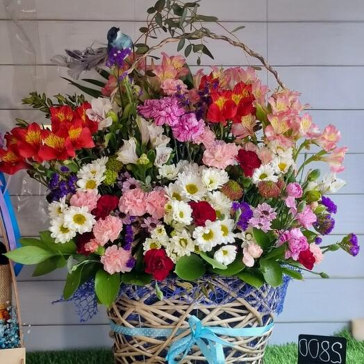 13💥Весна! Корзина с цветами 🌹