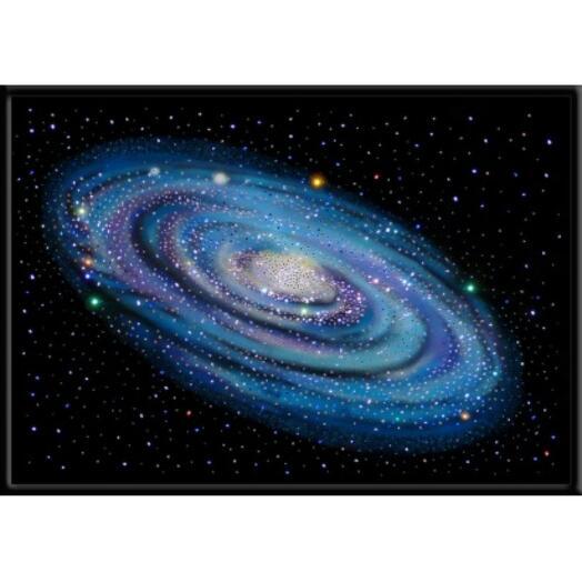 "Картина с кристаллами Swarovski ""Туманность андромеды"""