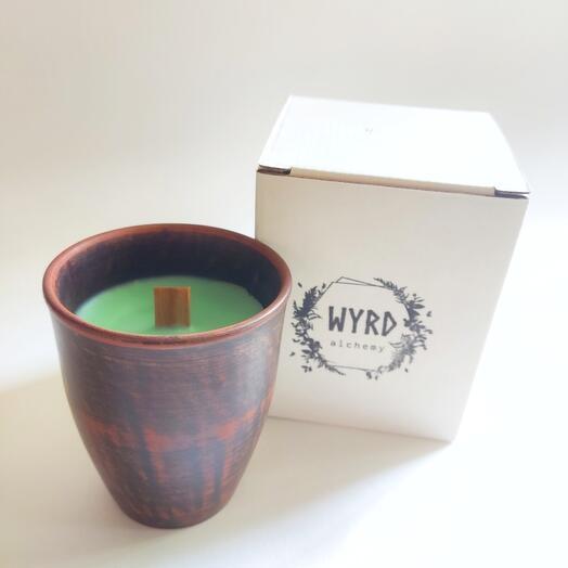 Соевая свеча с ароматом шалфея и розмарина