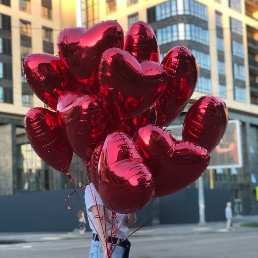 15 фальгированных сердец