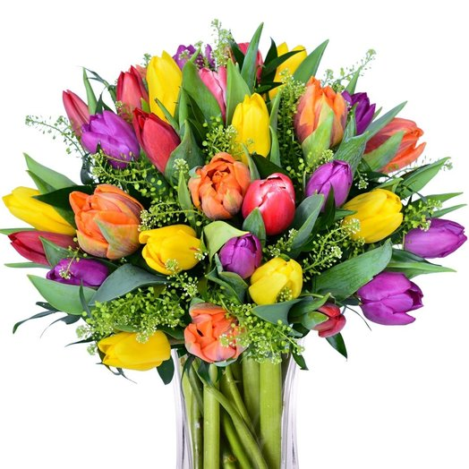 Монобукет из селекционных тюльпанов ANABELE: букеты цветов на заказ Flowwow