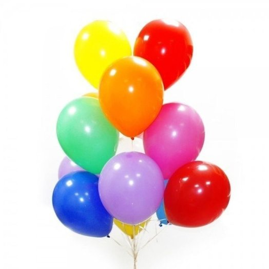 11 colorful balloons