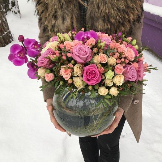 Волшебная вазочка: букеты цветов на заказ Flowwow