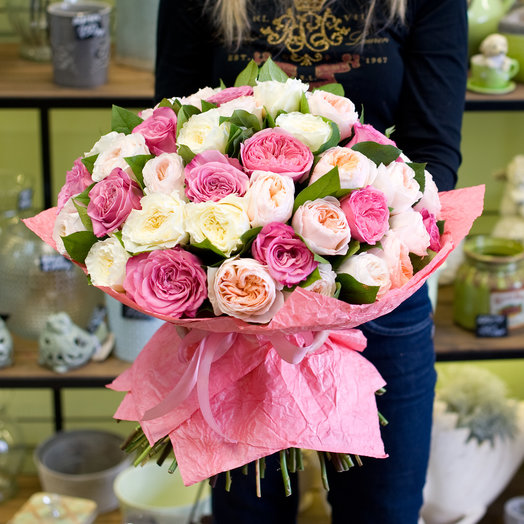 """Букет роз """"Английские розы"""": букеты цветов на заказ Flowwow"""