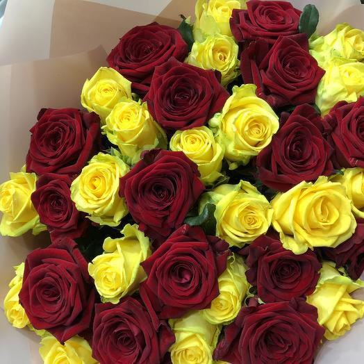 39 осенних роз: букеты цветов на заказ Flowwow