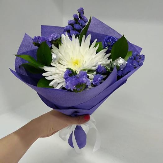 Комплимент букет, хризантема в статице: букеты цветов на заказ Flowwow