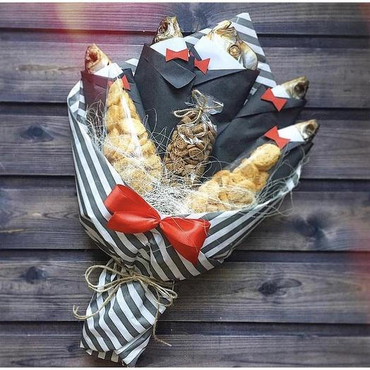 Рыбный букет «Джентельмен»: букеты цветов на заказ Flowwow