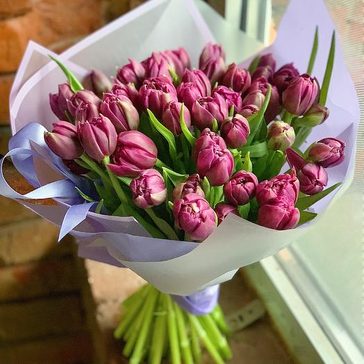 Фиолетовое безумие: букеты цветов на заказ Flowwow