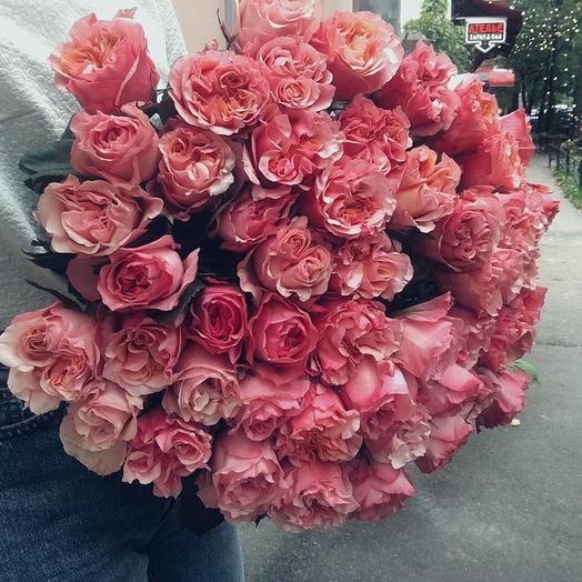 Моно букет 51 роза: букеты цветов на заказ Flowwow