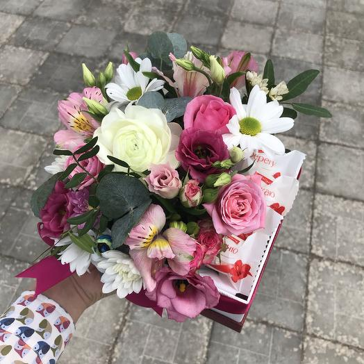 Композиция с раффаэлло: букеты цветов на заказ Flowwow