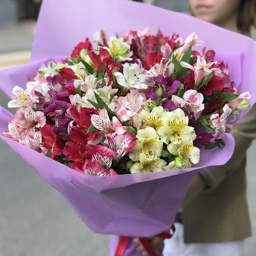 Огромный букет супер альстромерии по супер цене: букеты цветов на заказ Flowwow