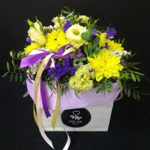 Счастливый пакетик: букеты цветов на заказ Flowwow