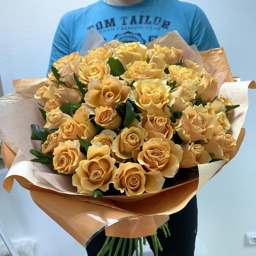 Персиковый мусс: букеты цветов на заказ Flowwow