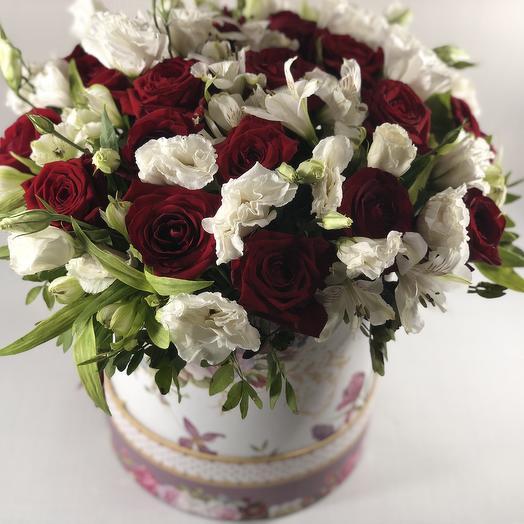 Корзина люкс мини: букеты цветов на заказ Flowwow