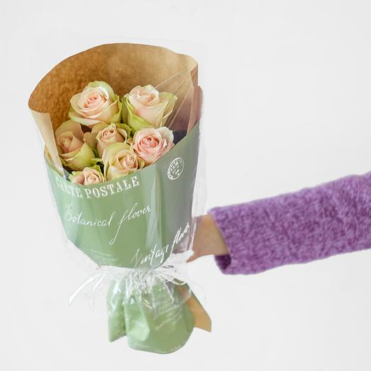 Букет из 7 роз Кения (розовый): букеты цветов на заказ Flowwow