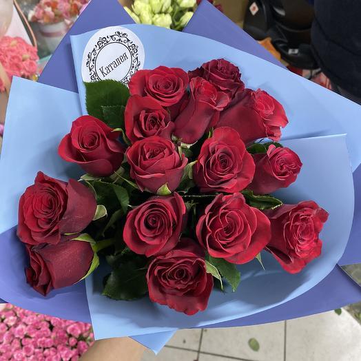 15 импортных роз: букеты цветов на заказ Flowwow