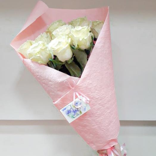 9 роз в бумаге: букеты цветов на заказ Flowwow