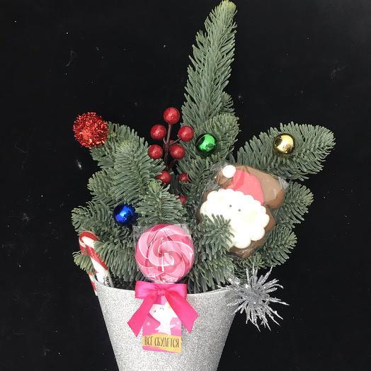 Сладкий кулёчек: букеты цветов на заказ Flowwow