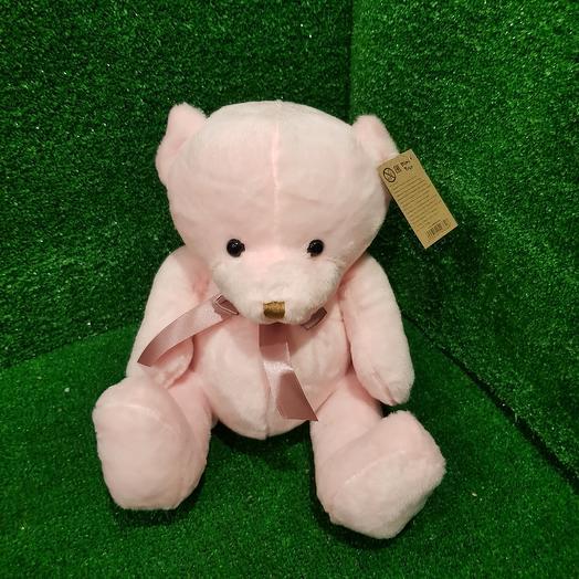 Розовый мишутка 25 см: букеты цветов на заказ Flowwow