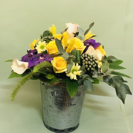 Весеннее ведерко: букеты цветов на заказ Flowwow