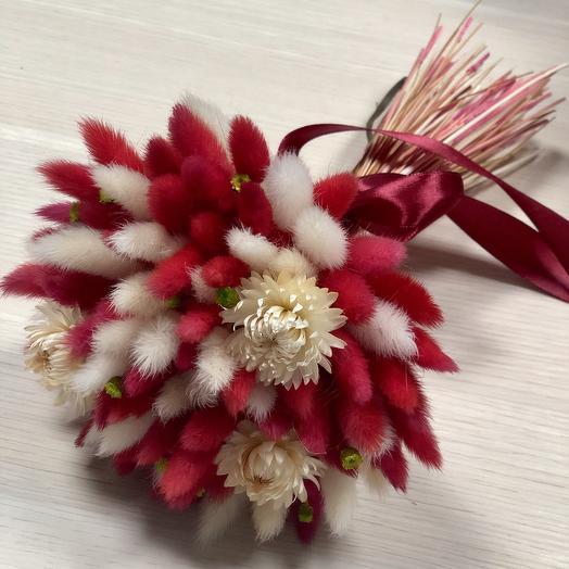 Букет из сухоцветов для самых страстных