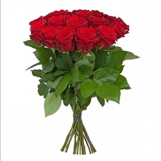 21 Красная роза 50 см