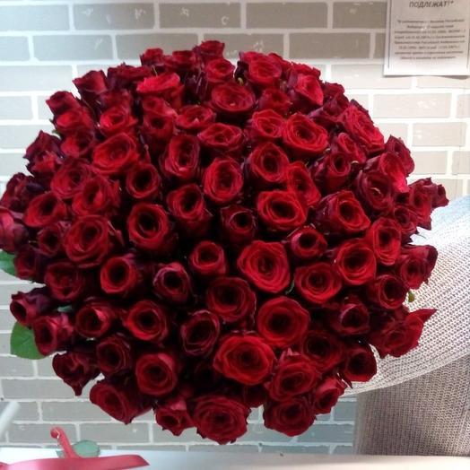 101 красная: букеты цветов на заказ Flowwow