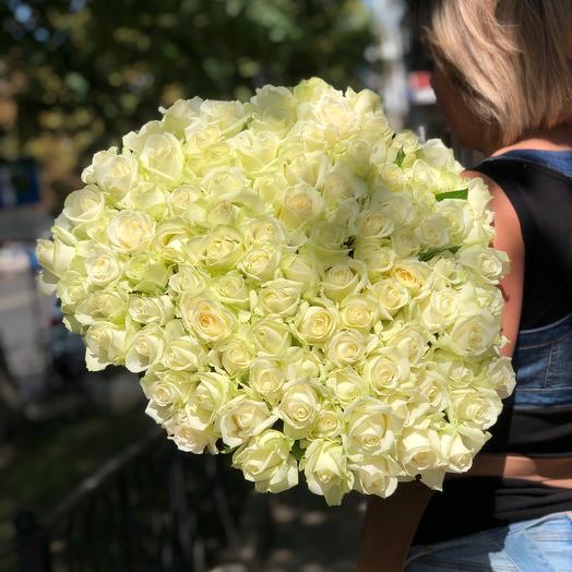 Шикарный букет из 101 Розы «АВАЛАНЖ»