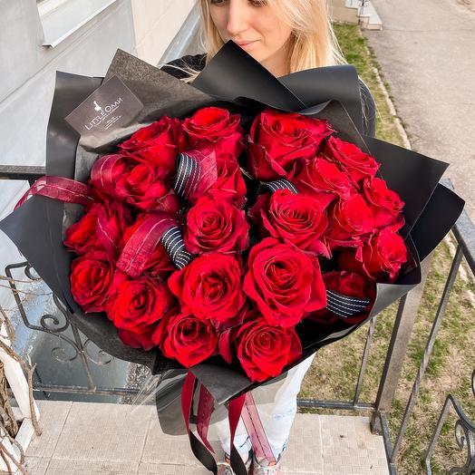 21 голландская Роза в фирменной упаковке