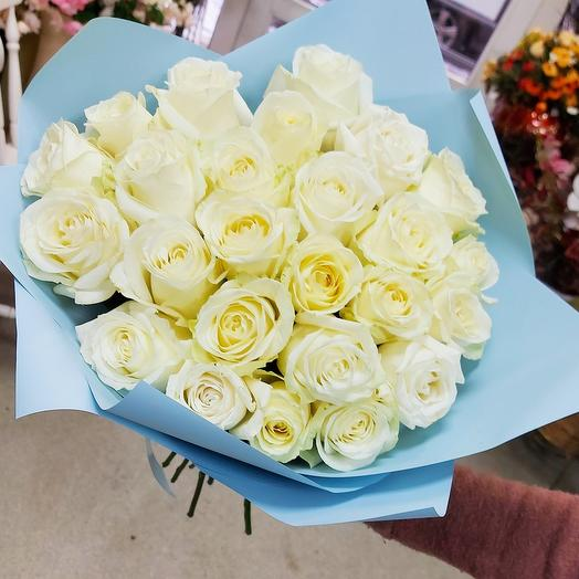 Роза белая 25 шт