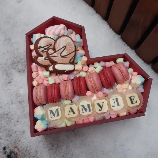 """Новогодняя композиция из сладостей """"Мамуле"""""""