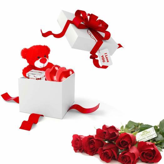 Подарок Сюрприз и Розы