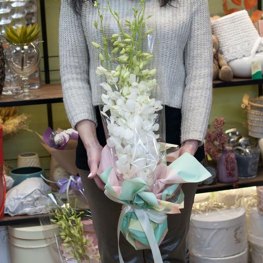 """Букет из белых орхидей """"Отражение"""""""