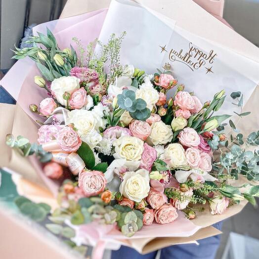 В самое Сердце ️👌пионовидные розы и эустомы