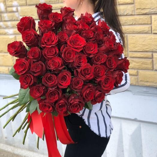 51 роза LUXE