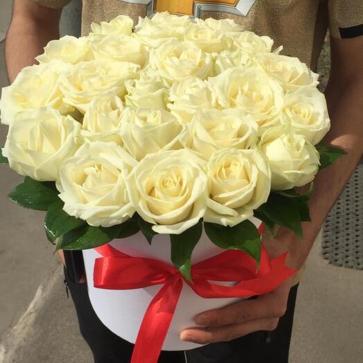 25 роз в коробке Цветы в коробке