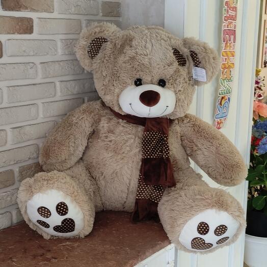Медведь Тони с шарфом 90 см