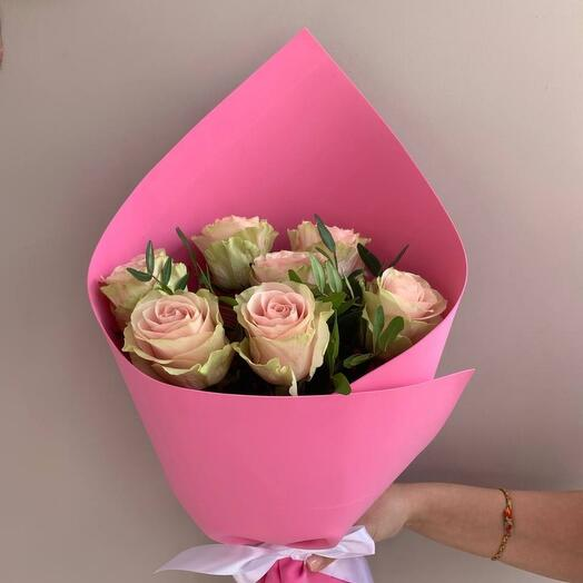 """Букет """"Фламенко"""" розовые розы"""