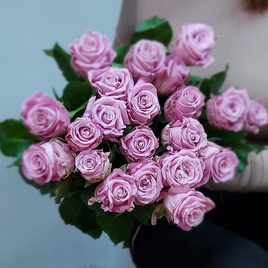 Сиреневый рассвет 21 роза