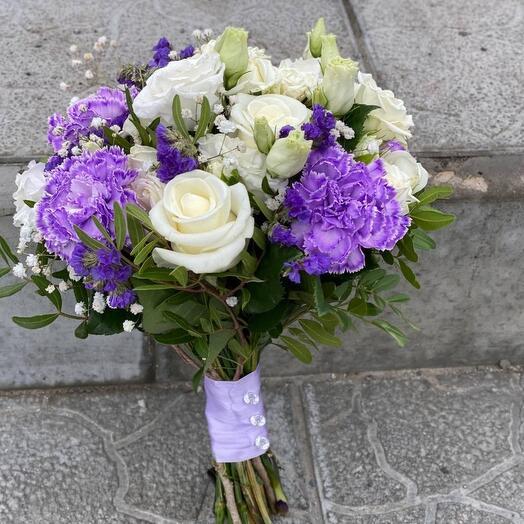 Букет невесты лиловый