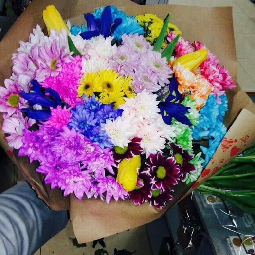 Разноцветный микс: букеты цветов на заказ Flowwow