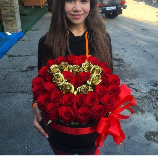 Золотое сердце: букеты цветов на заказ Flowwow