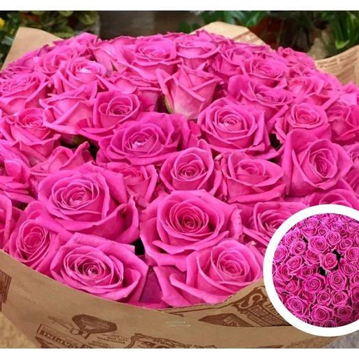 51 роза аква 50 см: букеты цветов на заказ Flowwow