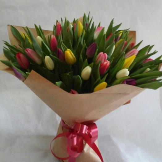 Букет 51 тюльпан микс: букеты цветов на заказ Flowwow